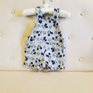 Disney Mickey Mouse shorts overalls